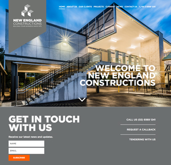 New England Constructions - web design by hopping mad designs