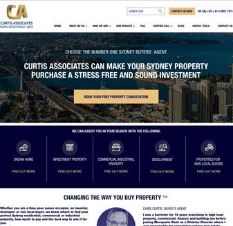Curtis Associates - web design portfolio
