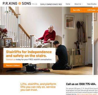 PR King & Sons - web design by hopping mad designs