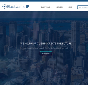 Blackwattle IP - web design by hopping mad designs
