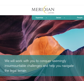 Meridian Lawyers Web Design by Hopping Mad Designs