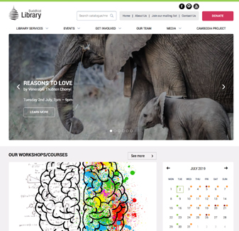 Buddhist Library Web design by Hopping Mad Designs