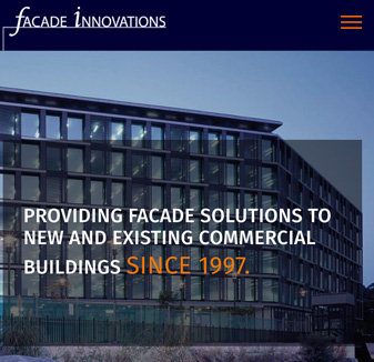Facade Innovations - web design by hopping mad designs