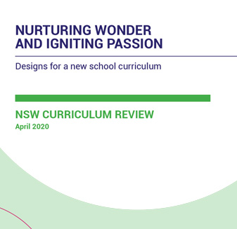NESA Curriculum Review Final Report - NSW Government graphic design