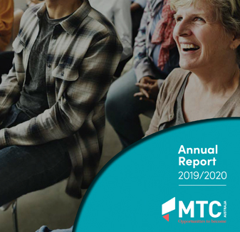 MTC Australia Annual Report - graphic design by Hopping Mad Designs