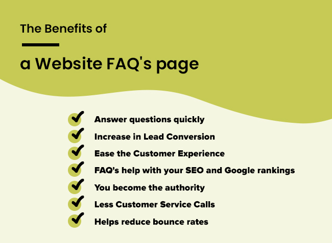Benefits of FAQ page on your website